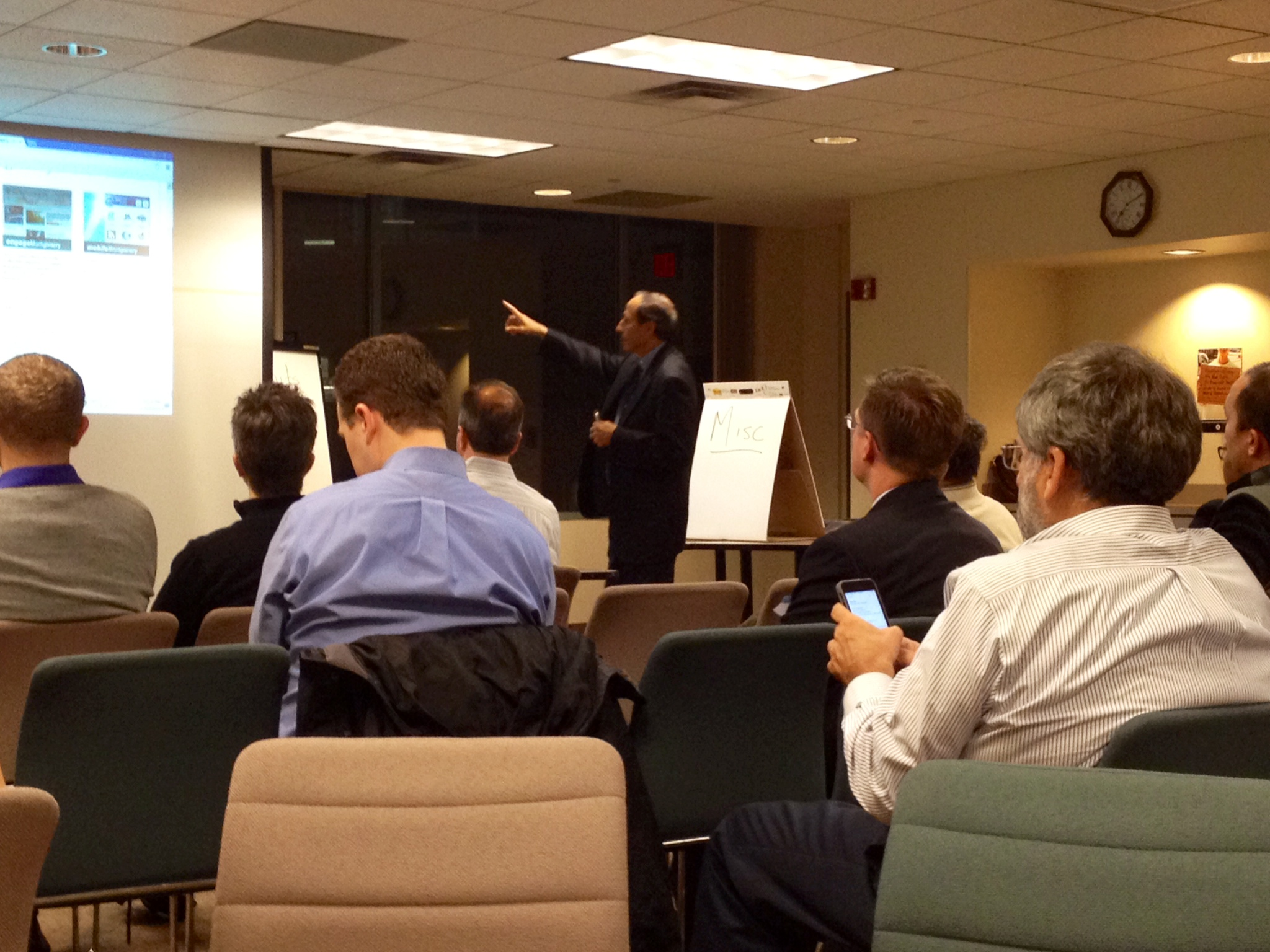 Montgomery County Chief Information Officer Sonny Segal speaks during the county's Open Data Town Hall.