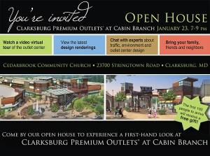 Clarksburg Premium Outlets Open House