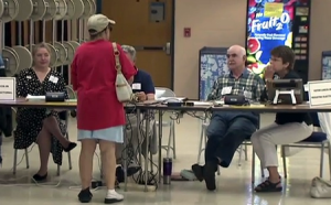 Voting at Montgomery County polling place 450x280