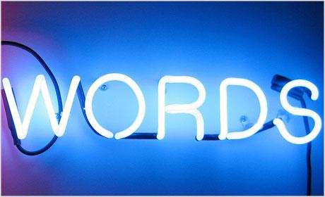 Neon sign words