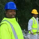 crew doing pothole repairs in MoCo