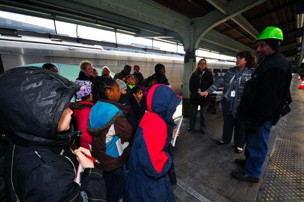 We talk with Amtrak personnel out on the tracks.