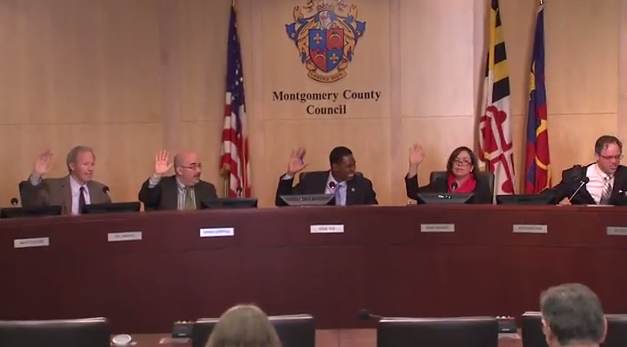 photo of county council taking a vote