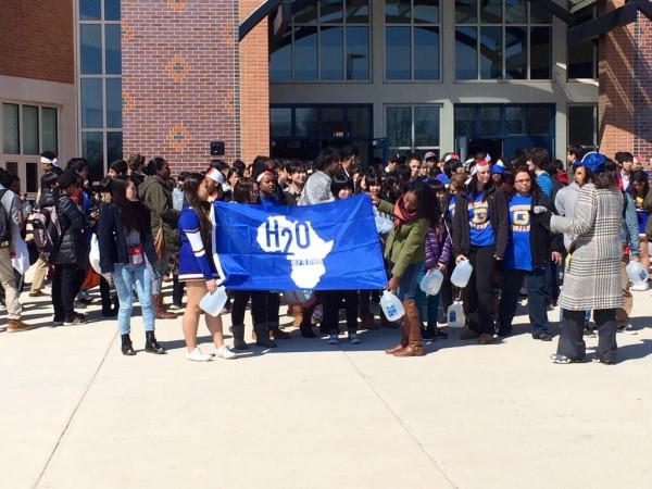 Gaithersburg students join visiting students from Japan in walk for water