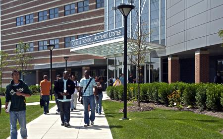 photo students walking at Universities at Shady Grove