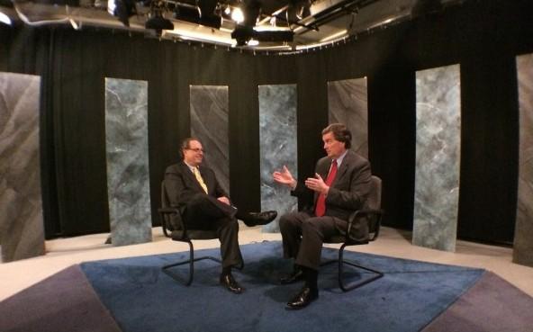 """Doug Duncan and  """"21 This Week"""" host Casey Aiken."""
