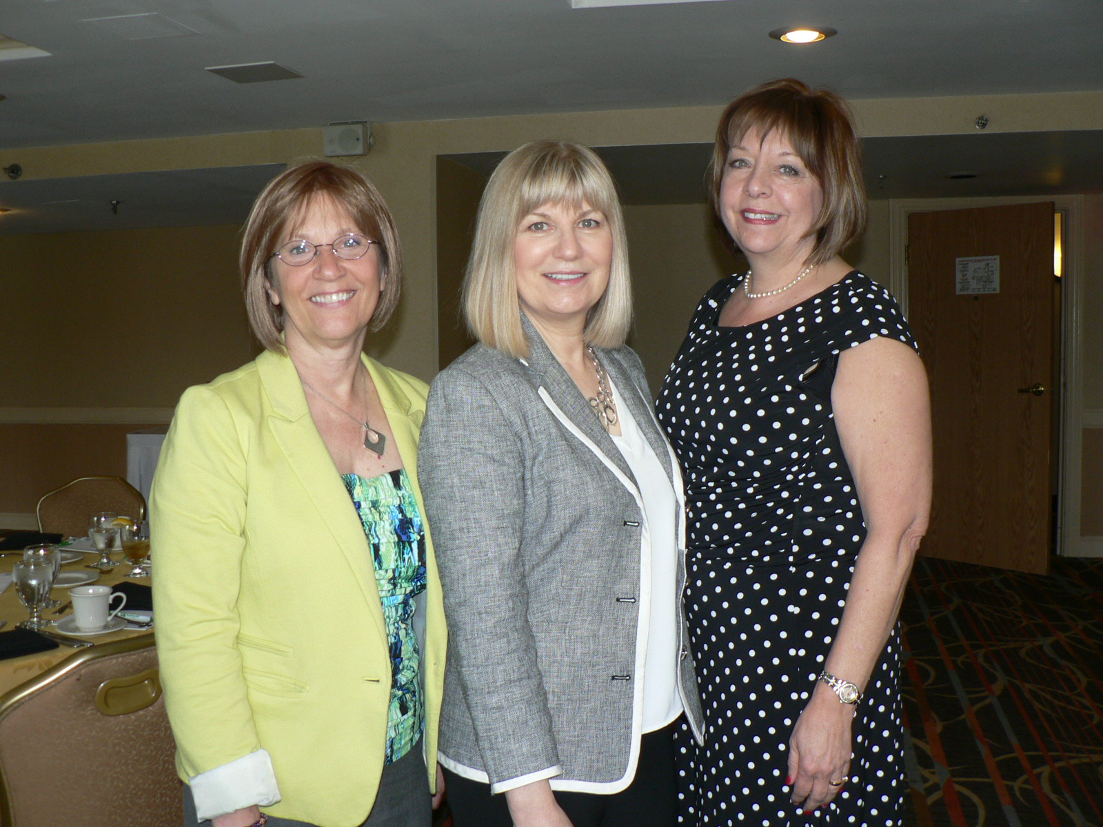 photo of GGCC Executive Director Marilyn Balcombe Brand In Focus Television Stylist Kim Foley and Warrior Women Arise Founder Donna Gallagher