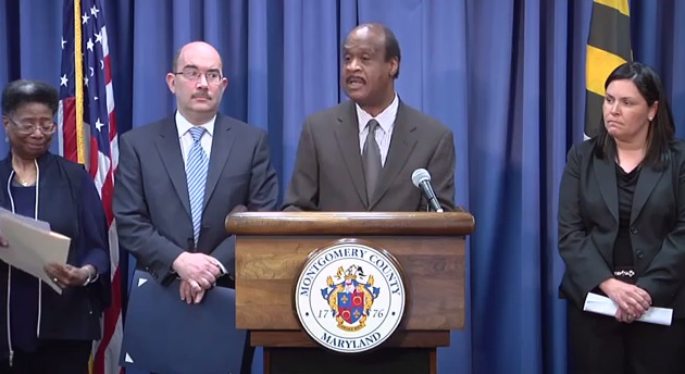 photo George Leventhal and Ike Leggett at Healthy Montgomery strategic plan announcement