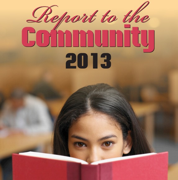 photo of cover of the montgomery county public library report to the community