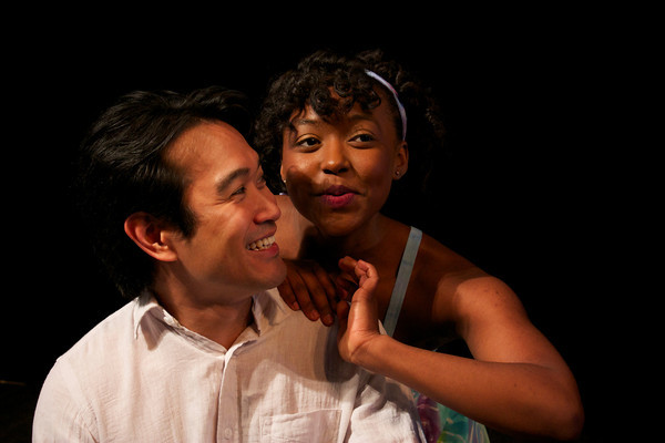 photo of Olney Theatre Center's ONCE ON THIS ISLAND begins April 9, starring Eymard Cabling (Daniel Beauzhomme) and Aisha Jackson (Ti Moune). Photo by Sonie Mathew