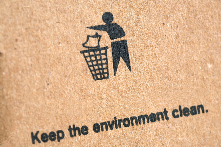 graphic stating keep the environment clean