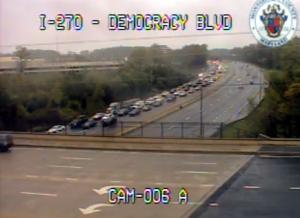 Traffic camera at I-270 and Democracy Boulevard