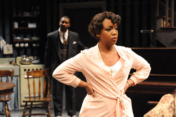 photo of essica Francis Dukes as Berniece and JaBen Early as Avery