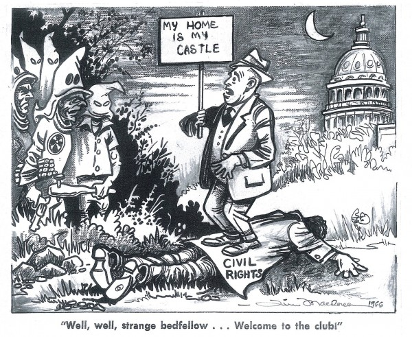 photo of Civil Rights Cartoon by Rev. Dr. James Macdonell
