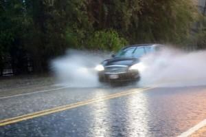 car rain