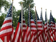 photo of Flags for our Local Heroes at Bohrer Park in Gaithersburg