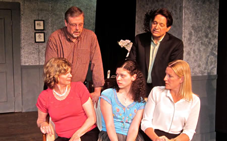 photo cast of woody allen play at Arts Barn