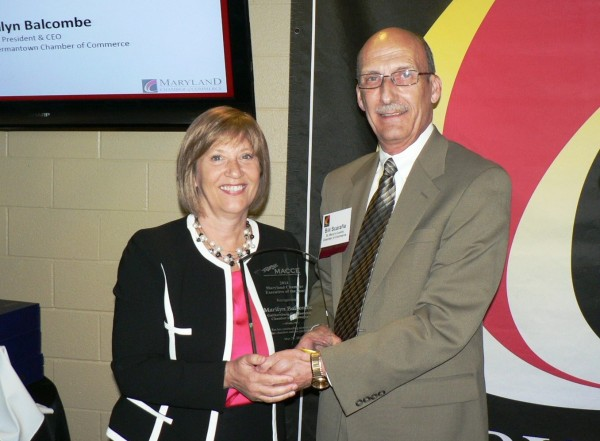 photo Gaithersburg-Germantown Chamber President Marilyn Balcombe and Bill Scarafia
