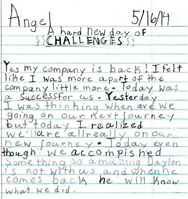 Angel's writing