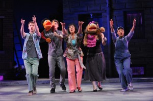 photo of The cast of Olney Theatre Center's production of AVENUE Q.