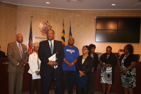 photo of Jim Stowe, director of the Montgomery County Office of Human Rights, talks about the significance of Juneteenth celebrations around the nation.