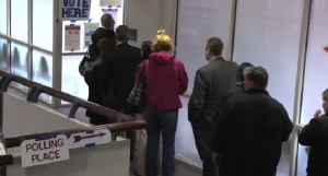 photo of Voters at Polling Place