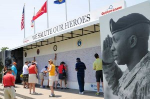 We Salute Our Heroes signature wall