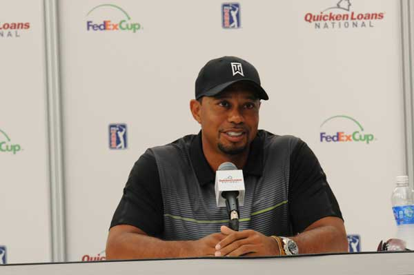 Tiger is  ready to play the Quicken Loans National
