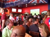 The lunch hour crowd was huge at Union Jacks to watch USA take on Germany in World Cup action.