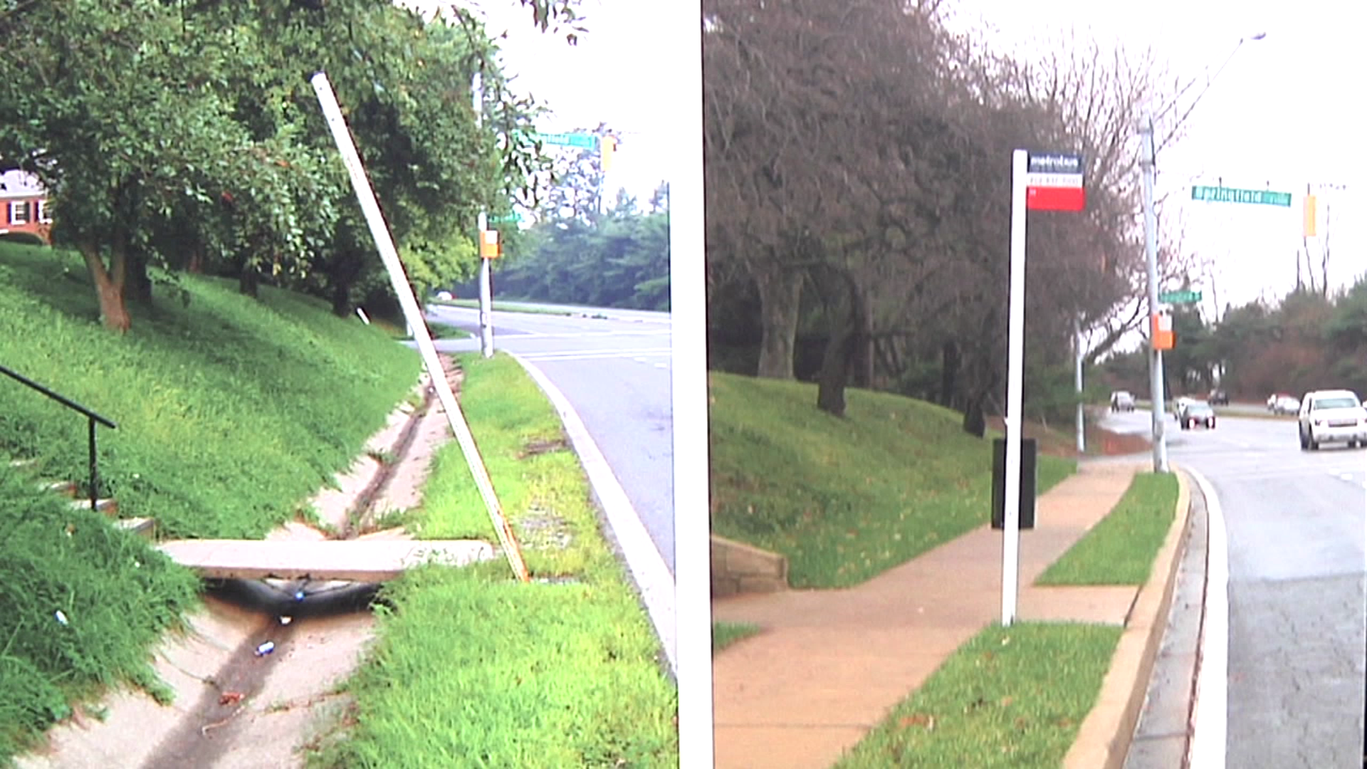photo of Bus Stop before and after improvements