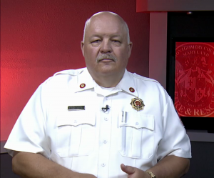 photo of MCFRS Fire Chief Steve Lohr