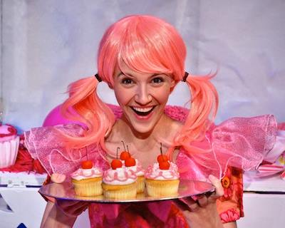 photo of Carolyn Agan in Adventure Theatre's Pinkalicious