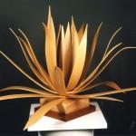 photo of bent wood art piece by Len Harris
