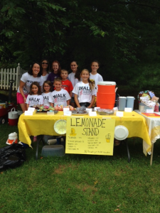 ALS Lemonade Stand with tshirts