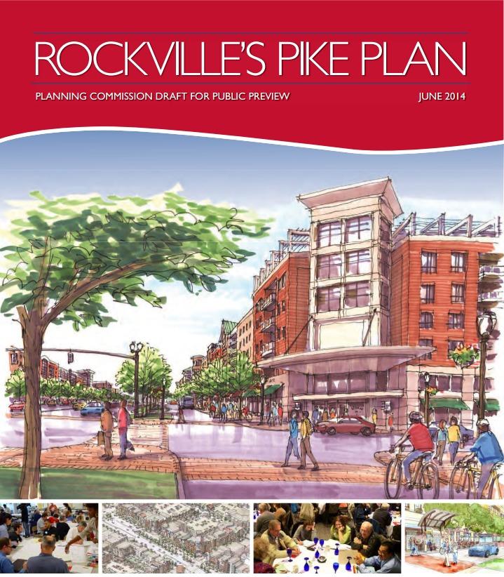photo of cover of Rockville's Pike Plan draft
