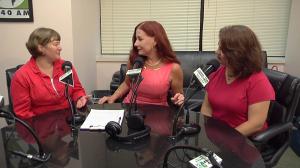 photo of radio show in studio