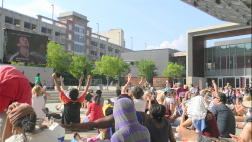 photo of crowds at World Cup Viewing Party Silver Spring
