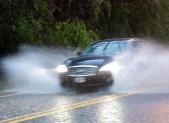 photo of car in rain