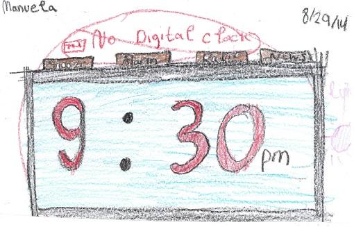photo of Digital Clock drawing- Manuela