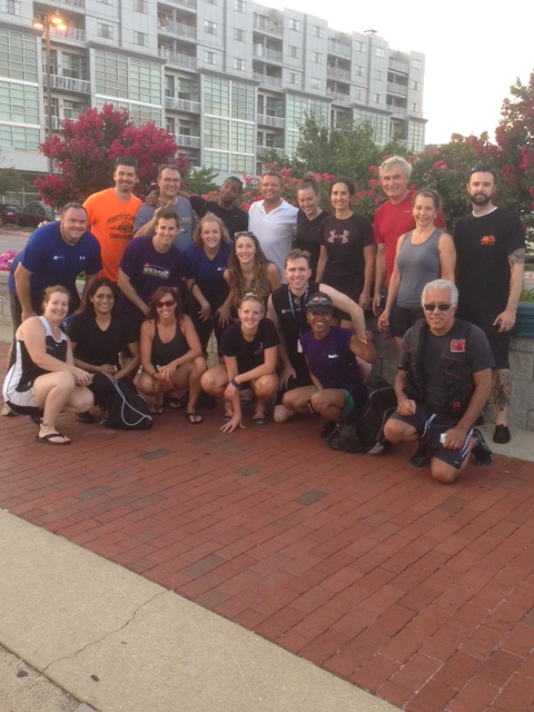 Team Erickson Living takes a moment from their vigorous summer practice schedule to pose for a photo.  They will be competing in the 2014 Dragon Boat Races on Saturday, September 6 to benefit Catholic Charities.
