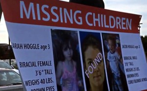 photo of missing children sign