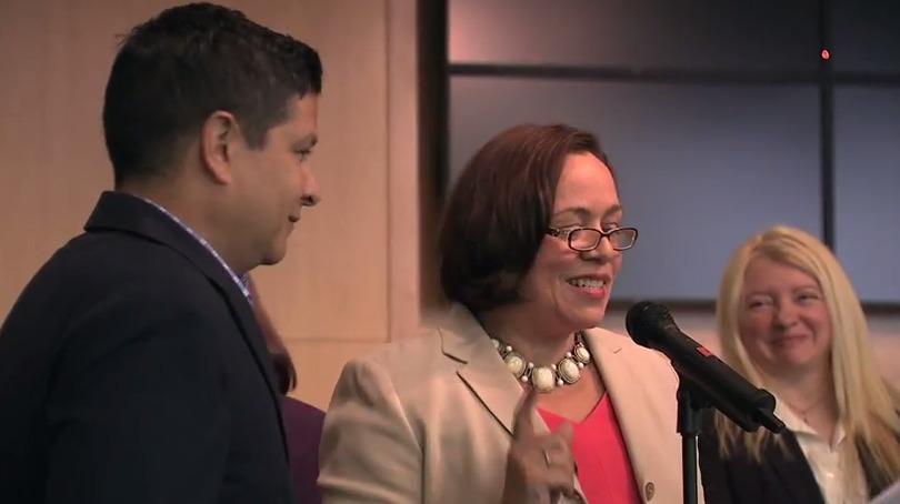 photo of José Antonio Tijerino and Nancy Navarro at county council proclaimation