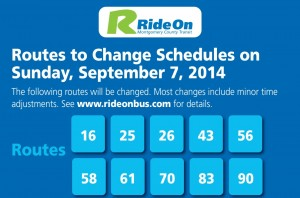 Ride On Route Changes