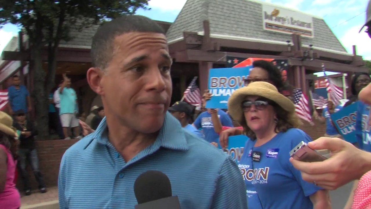 photo of Lt. Gov. Anthony Brown at Gaithersburg Labor Day Parade