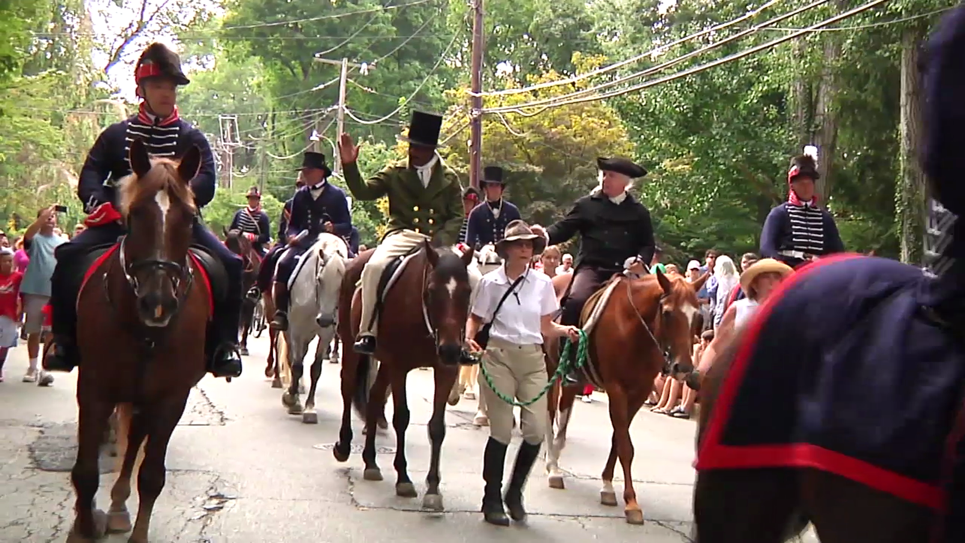 photo of reenacters at Brookeville US Capital for a Day celebration
