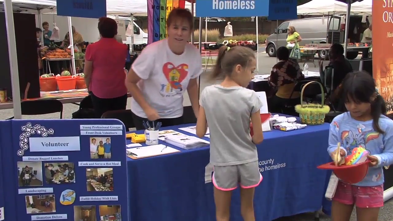 photo of booth at Rockville's Salute to Non-Profits