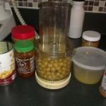 preparing to make hummus