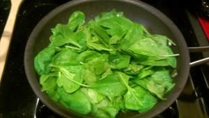 sautéing spinach
