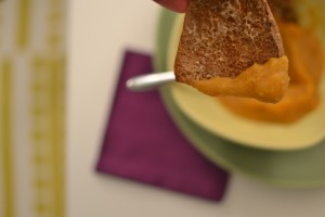 soup becomes a finger food!