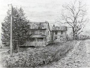artwork entitled forgotten old house by ruth sentelle